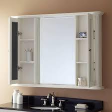 bathrooms cabinets white framed recessed medicine cabinet oval