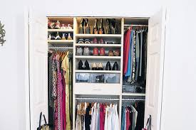 small closet organization and storage