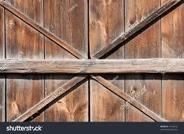 Wooden Barn Door by Old Wooden Barn Door Weathered Planks Stock Photo 75164752