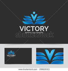 letter v logo template wings design stock vector 366931424