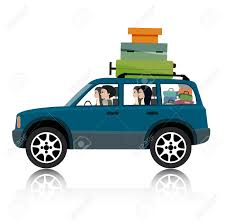 box car clipart women drive suv luggage royalty free cliparts vectors and stock