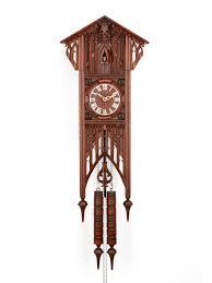 decor antique wood wheel paper shield cuckoo clock circa for