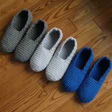 crochet pattern mens slippers men man basic pure simple easy house