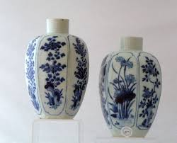 Porcelain Vases Uk Late Transitional Early Kangxi Blue And White Pair Of Porcelain
