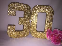 30th birthday decorations glitter numbers glitter number 3 glitter number 0 birthday party