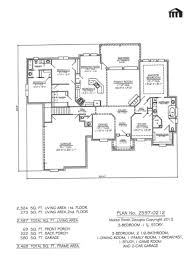 plan 1532 10 luxihome plan no 2597 0212 3 bed room 2 story floor pl 1 car garage house plans