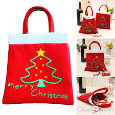 Christmas Decorations Online Shops by Creative Christmas Tree Pattern Santa Claus Candy Bag Handbag Home