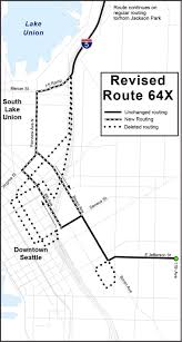 Seattle Link Rail Map Route Revisions Service Change Information King County Metro