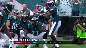 philadelphia eagles touchdown homerun celebration 10 8 17 v