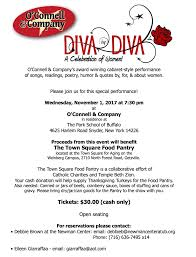 thanksgiving poems readings diva by diva a celebration of women newman center at ub
