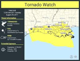 Lake Charles Louisiana Map by Tornado Watch Issued For New Orleans Area Parishes Nola Com