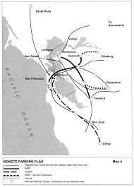 Bart System Map by San Francisco General Plan Transportation