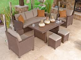 6 Chair Patio Dining Set Resin Outdoor Dining Set Gccourt House
