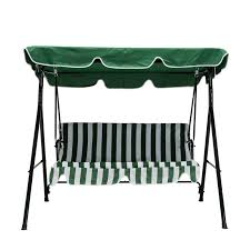 Outdoor Patio Swing by Uenjoy Outdoor 2 Seats Patio Canopy Swing Glider Hammock Backyard
