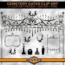 halloween graveyard clipart cemetery gate clipart clipartfest