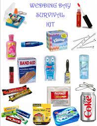 wedding gift kits wedding day survival kit eventstocelebrate net bridal