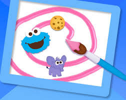 elmo painting maker sesame free coloring pages for