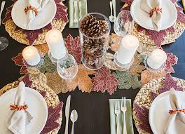 3 tricks to styling a beautiful thanksgiving table above