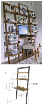 diy desk made with all 1x boards small space office ana white build a leaning wall ladder desk free and easy diy project and furniture plans