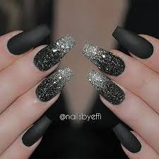 love a good matte black manicure nailsbyeffi nail design nail