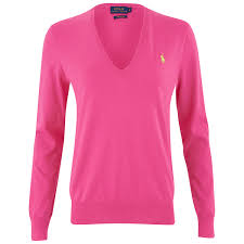 womens ralph sweater polo ralph s v neck jumper knockout pink free uk