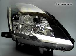 nissan 350z matte black 03 05 nissan z33 350z fairlady z u2014 clear led headlights
