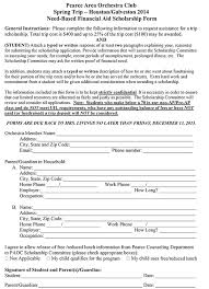 2014 trip scholarship application form u2013 jj pearce hs orchestras