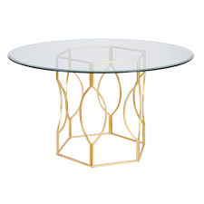 glass table base only worlds away dining tables matthew izzo