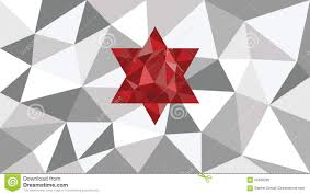 different shades of gray abstract shining vector geometric web background red shape in
