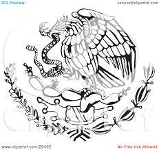 Mexico Flag Symbol Aztec Clipart Mexican Eagle 2343597