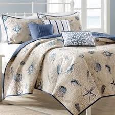 Coastal Comforters Bedding Sets Coral Seahorse U0026 Coastal Blue Starfish Bedding Set Beachy Bedroom