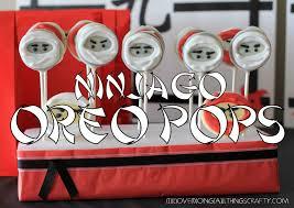 i love doing all things crafty ninjago oreo pops