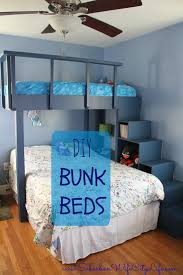 storage stairs basmenet understair baskets bunkbeds with diy bunk beds suburban wife