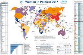 Map International Women In Politics Map 2017 International Knowledge Network Of