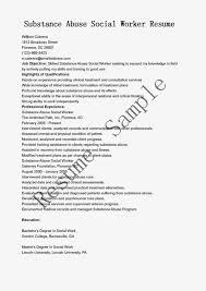 Social Work Sample Resume by Substance Abuse Social Worker Cover Letter