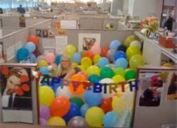 decorating coworkers desk for birthday cubicle decorating ideas small hanging mirror blood orange wall