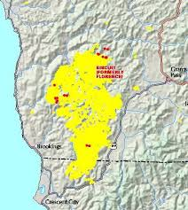 a map of oregon fires black line protects subdivision from biscuit oregon still