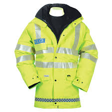 gore tex mtb jacket british police hi viz goretex parka like new