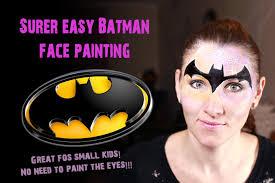 super easy and fast batman face painting tutorial youtube