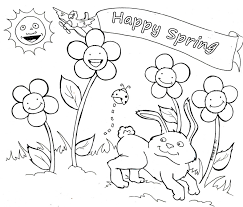 welcome to spring seosen coloring pages kids happy printable