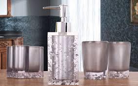 designer seifenspender bellabrunnen 5 teiliges design badset strasssteine seifenspender