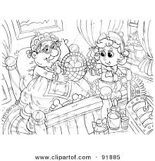 royalty free rf clipart illustration black white