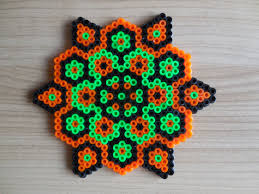 halloween ornament halloween mandala hama beads pixel art