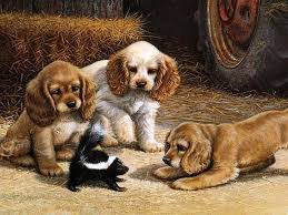dogs play the games diy digital oil painting by numbers color kit