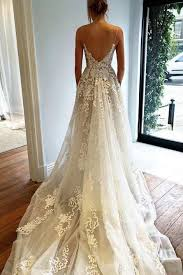 lace backless wedding dress v neck lace backless bridal dresses wedding