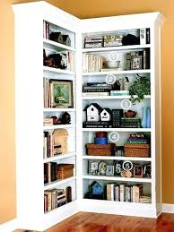 Corner Bookcase Ideas Corner Book Shelf Custom Made Built In Corner Bookcases By Home