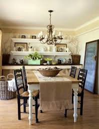 table with 10 chairs for shabby chic style dining room with