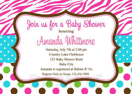 polka dot invitations print your own ba shower invitations pink zebra polka dot polka