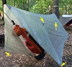 great method to manage hammock tarp doors adventure alan