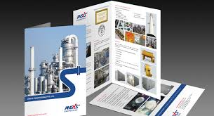 layout design industrial engineering one fold brochure design and printing for industrial piping